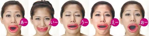 Japonka, tvár