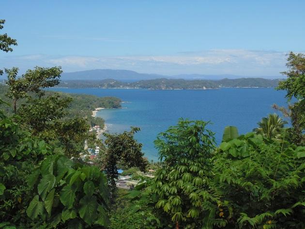 výhľad zcesty nad Puerto Galera