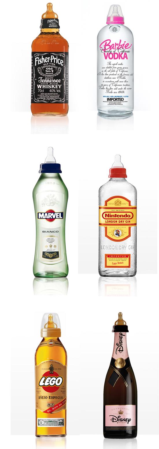 kids alco bottles