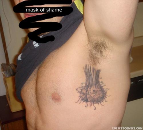 balls tattoo